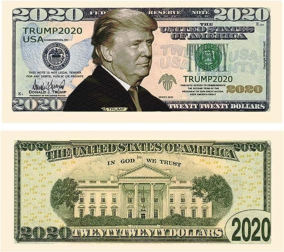 VOTE IN 2016 ELECTION MILLION DOLLAR BILL Lot of 10 BILLS