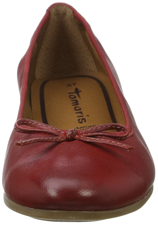 Tamaris Geschlossene Damen 22116 Geschlossene Tamaris Ballerinas Rot (Chili 533) c2e1ec