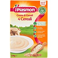 Plasmon Crema di Cereali, 4 Cereali, Indicato dal 4⁰ Mese Compiuto - 230 gr