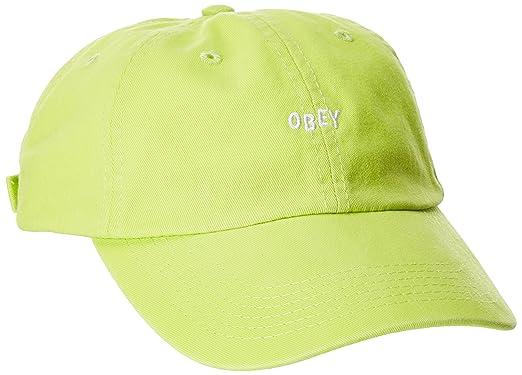 Obey Hombres 100580037 Gorra de béisbol - Verde - Talla única