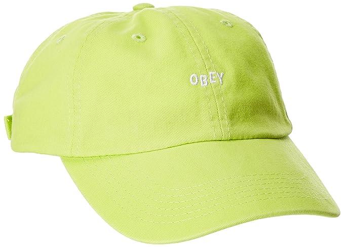 Obey Hombres 100580037 Gorra de béisbol - Verde - Talla única  Amazon.es   Ropa y accesorios 636294ef9af
