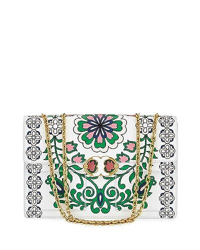 e3582758f4d Amazon.com  Tory Burch Gemini Link Large Garden-Print Chain Crossbody Bag  Shoulder Handbag  Shoes