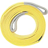Recovery Tow Strap 25000 Lb Breaking Capacity Heavy Duty Vehicle Towing Winch Snatch Strap, Tree Saver Car Emergency Off Road Rope with Reinforced Loops, Reflective Safety Vest by BandySafety