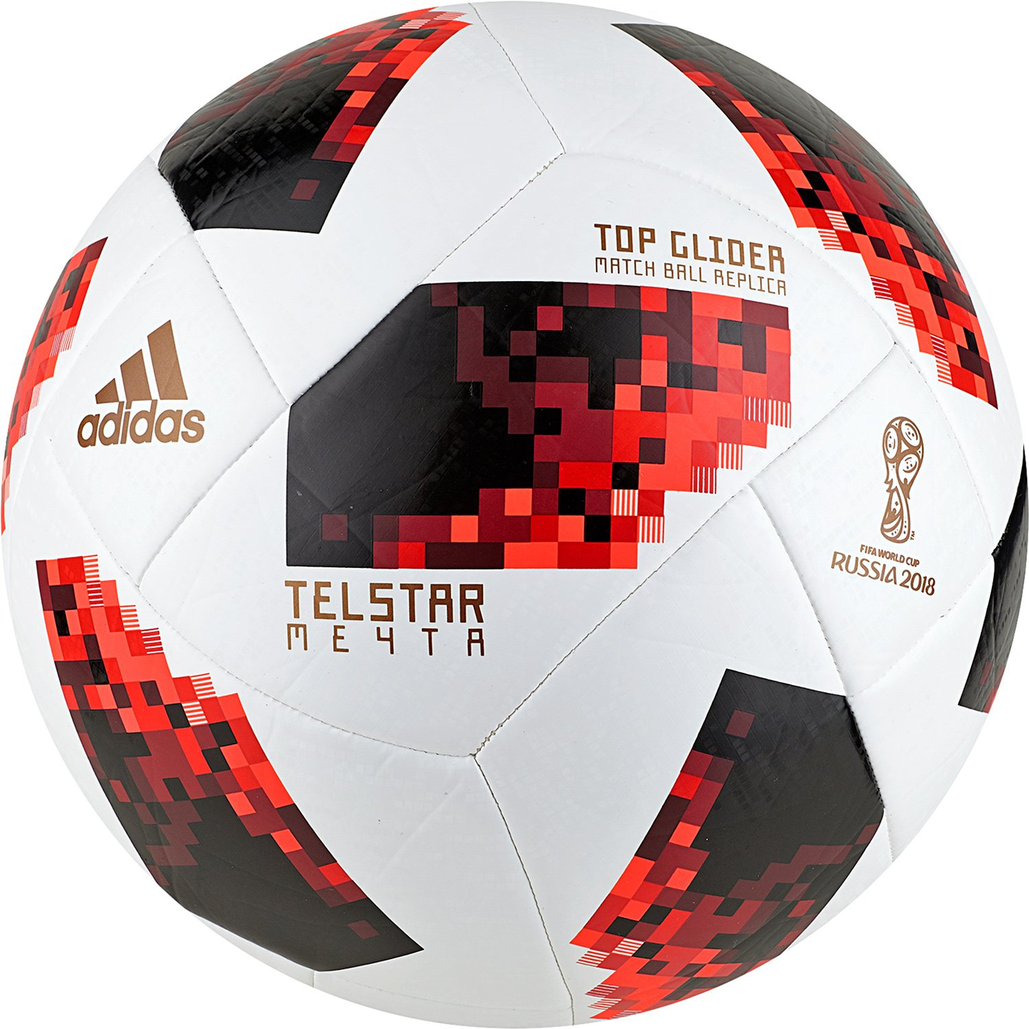 46037aa571c Buy ADIDAS FIFA World Cup 2018 Telstar Football (Knockout Top Glider Match  Ball Replica) Online at Low Prices in India - Amazon.in