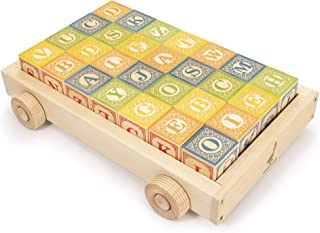 product image for Uncle Goose Classic ABC Blocks with Wagon - Made in The USA