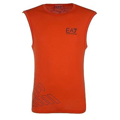 Emporio Armani EA7 t-Shirt sans Manches Débardeur Homme orangene EU M (UK M e73ead08a823
