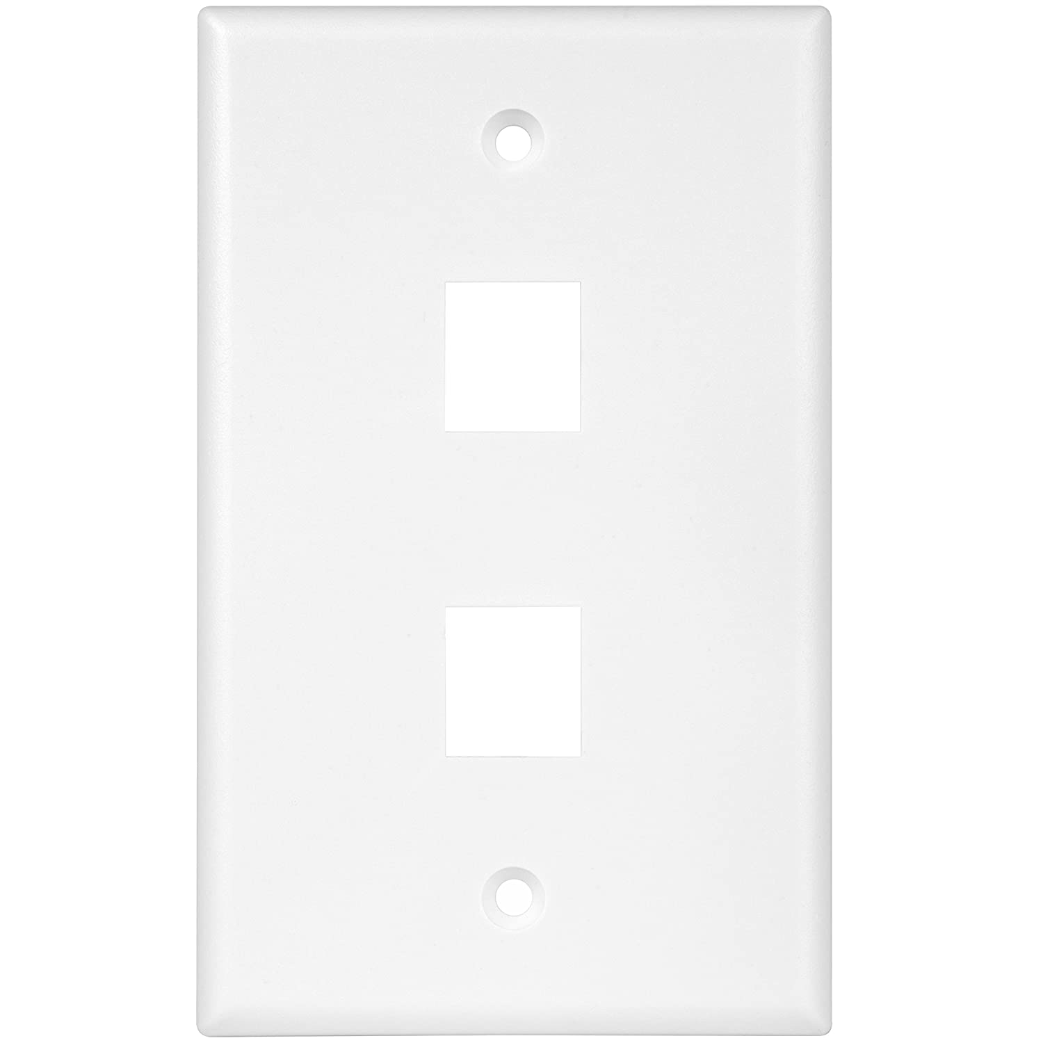 Enerlites 8873-W Keystone Jack Wall Plate by 1-Gang, 3-Port Multimedia Module Insert Cover for Voice Data Audio Video Connections, White Top Greener Inc
