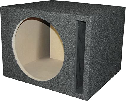 R/T 300 Enclosure Series -318-12 Alpine - Single 12-Inch Slot Vented Sub  Bass Hatchback Speaker Box with Labyrinth Power Port for Alpine Subs
