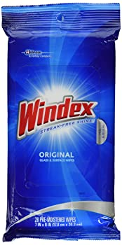 Windex Wet Wipe Cloth Glass Cleaner