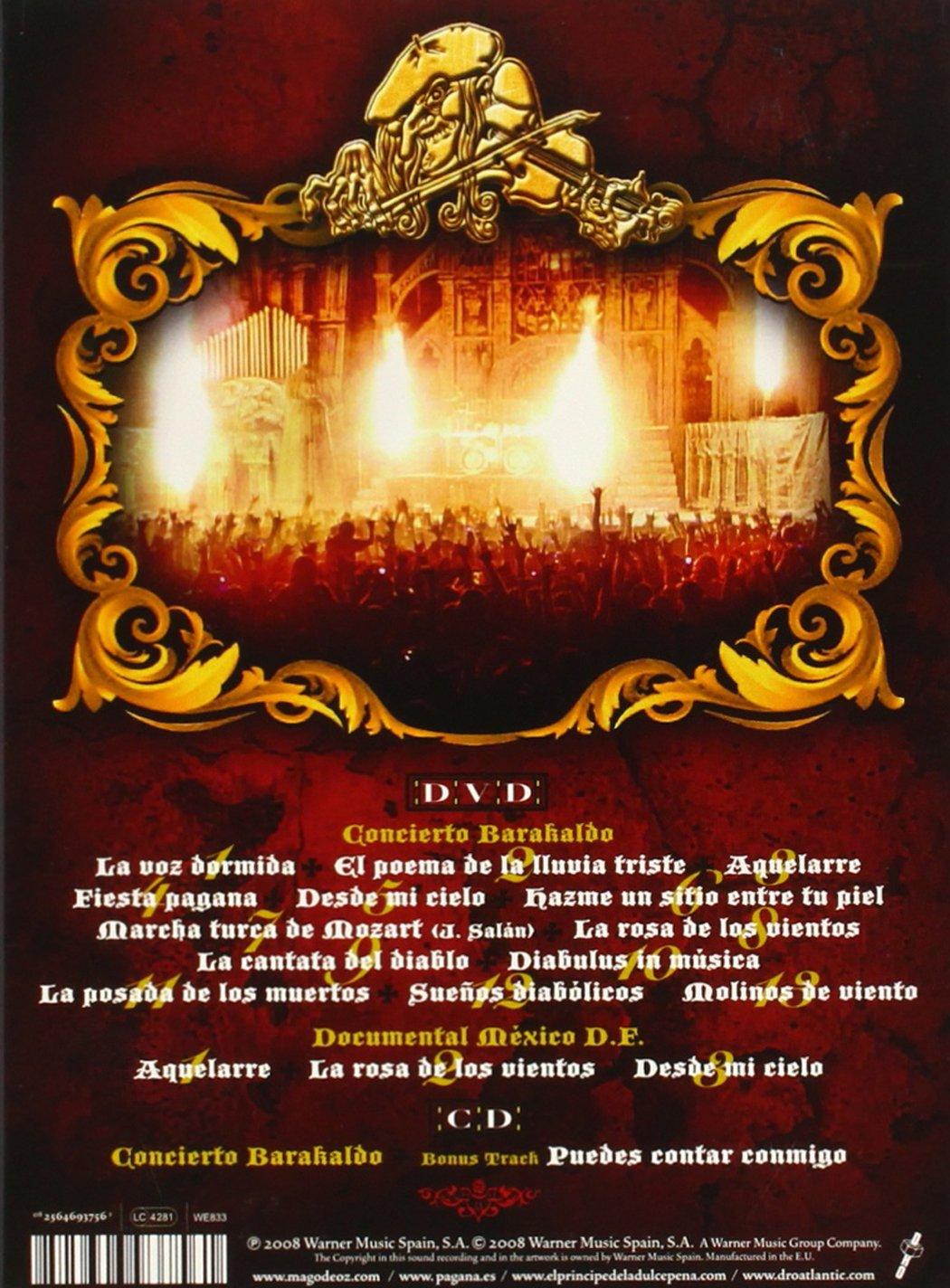 Mago De Oz Barakaldo D F Cd Dvd Music