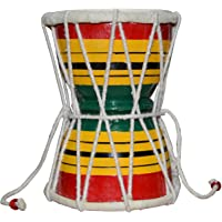 DronaIndia Damru Hand Percussion Handmade Indian Musical Instrument