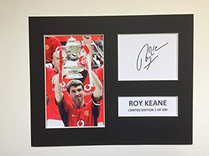 26688ed3037 LIMITED EDITION ROY KEANE SIGNED DISPLAY PRINTED AUTOGRAPH FOOTBALL ...
