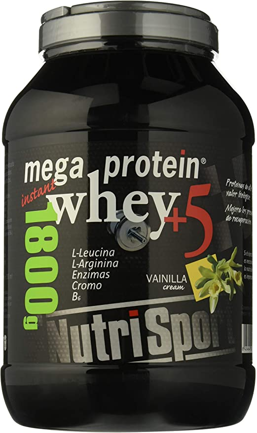 Nutrisport Mega Protein 5 Whey Vainilla 1,8Kg. 1800 g: Amazon ...
