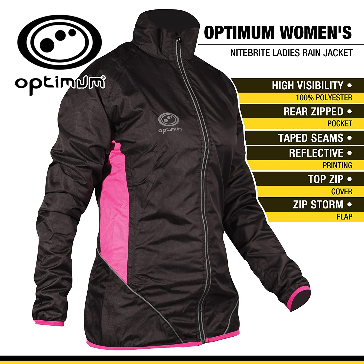Optimum Hi-Viz Cycling Rain Jacket