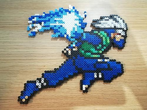 Pixel Art Hama Beads Kakashi Amazonfr Handmade
