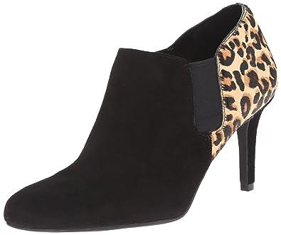 Womens Boots Cole Haan Maxfield Shootie Black Suede/Black Lizard Print