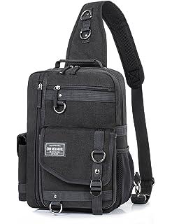 92b983c860d Messenger Bag for Men, Cross Body Shoulder Sling Bag Travel Outdoor Gym  Backpack Black 1