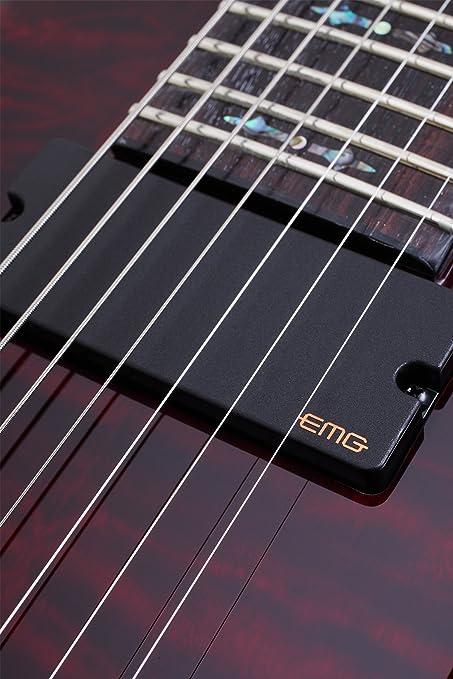 Schecter Hellraiser 2 FR (7 cuerdas Guitarra eléctrica (negro brillante): Amazon.es: Instrumentos musicales
