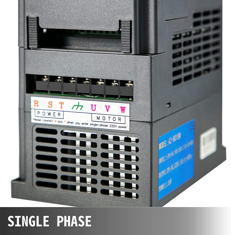 VEVOR 2.2KW 220V Frequenzumrichter 3HP Variable Frequency Driver VFD Frequenzwandler Inverter Antrieb Frequency Inverter Transformer VFD
