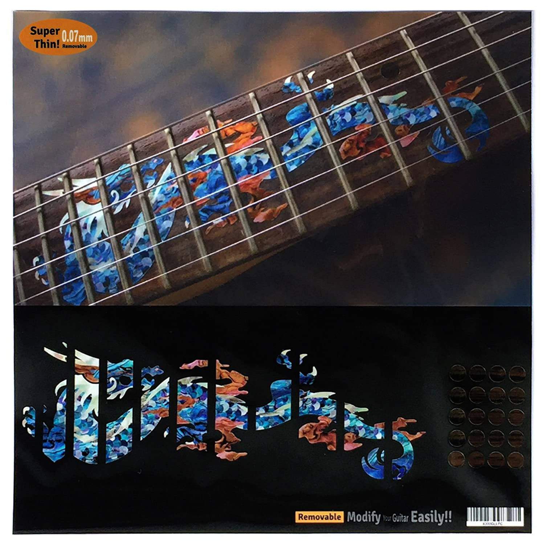 Fretboard Markers Inlay Sticker Decals for Guitar - Dragon - AB jockomo F-069DR-BL