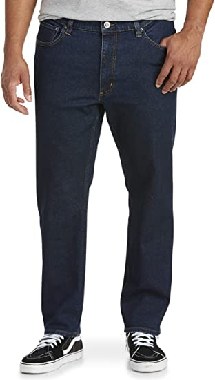 Essentials Straight-Fit Stretch Jeans