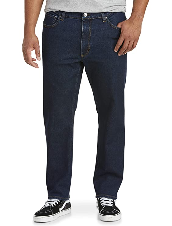 Amazon Essentials Men's Straight-Fit Stretch Jean, Rinse, 36W x 33L best men's denim jeans