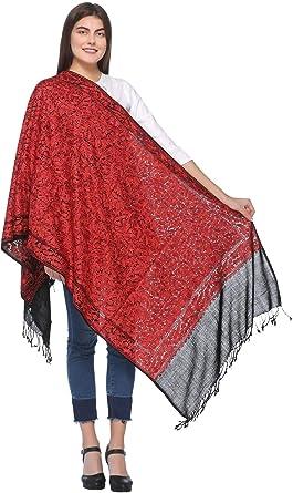 Kashmiri Aari Embroidered 100/% Pure Wool Pashmina Shawl and Wrap
