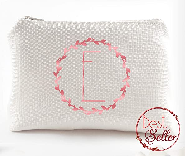 d12461afbaef Amazon.com  Custom wedding Thank you Gift - Personalised Bridesmaid Makeup  Bag - Maid of Honour Gift - Unique Bridal Party Favors - Makeup Cosmetic  Bags ...