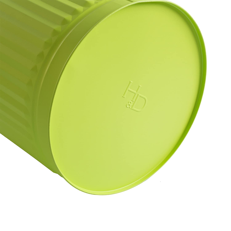 /Ø 36 cm, hauteur 36,5 cm, vert Poubelle Poubelle vintage Poubelle Poubelle Poubelle avec poign/ées de transport