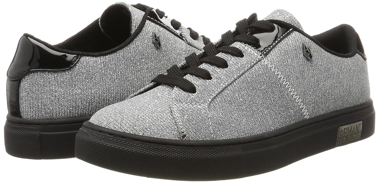 Armani Silber Jeans Damen Sneaker Bassa Silber Armani (Argento) 060243