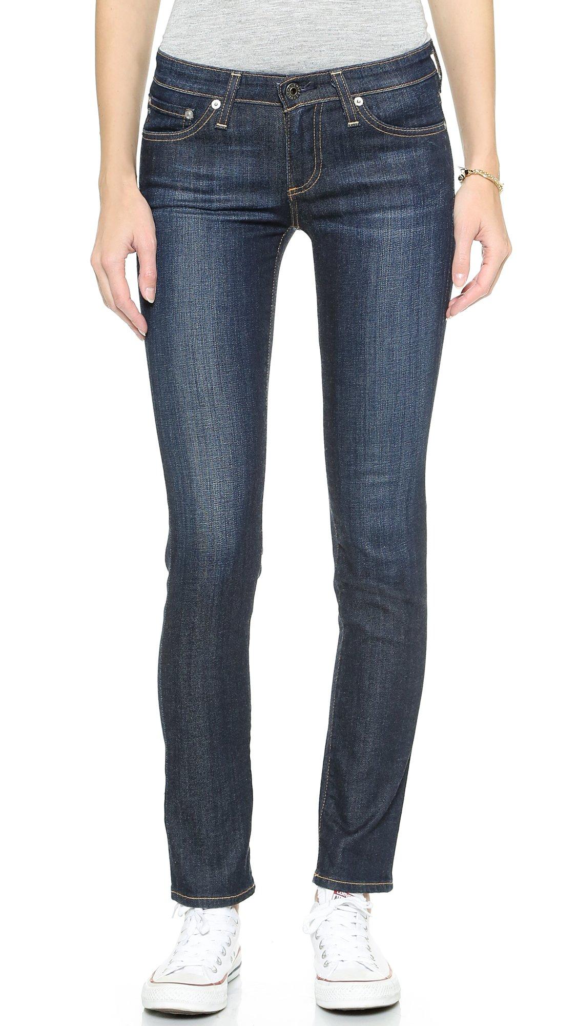 AG Adriano Goldschmied Women's Stilt Cigarette Leg Jean, Free, 28