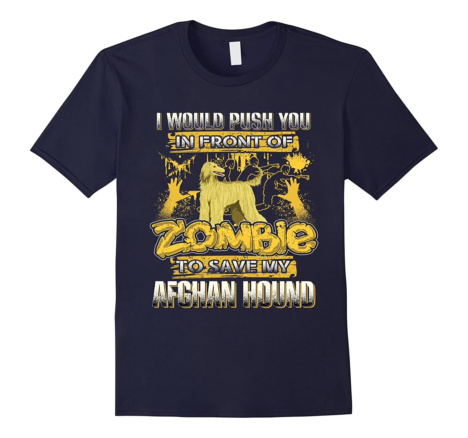 My Afghan Hound And Zombie Funny Tshirt-TH