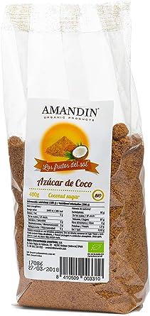 AMANDIN Los Frutos Del Sol Azúcar De Coco Bio 400g - Pack de 10 x 400g: Amazon.es: Alimentación y bebidas