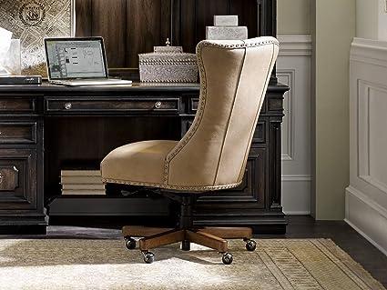 Brilliant Amazon Com Hooker Furniture Lynn Leather Home Office Chair Interior Design Ideas Clesiryabchikinfo