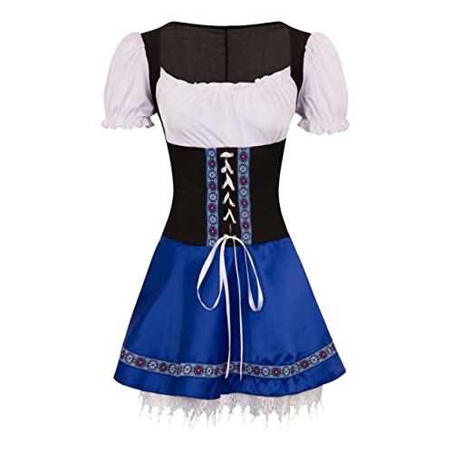 Ladies Blue Beer Maid Oktoberfest Clubcorsets® Costume sizes S-6XL