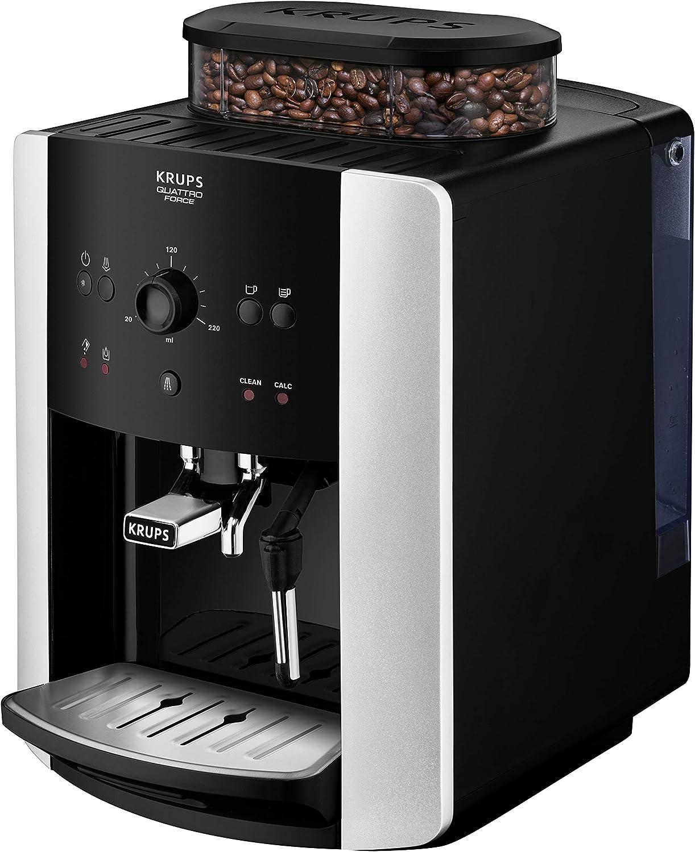 Krups EA8118 Independiente 1.6L Negro - Cafetera (Independiente, 1,6 L, Granos de café, Molinillo integrado, Negro): Amazon.es: Hogar