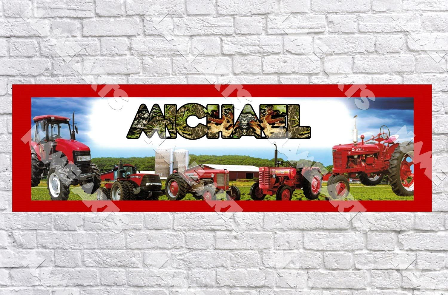 Party Decorations Tractor 17th Birthday Banner x 2 Personalised ANY NAME