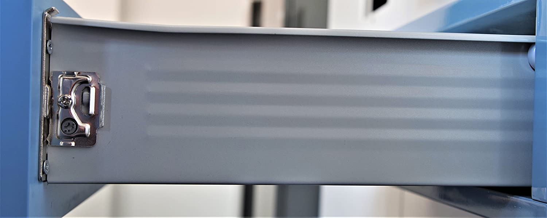 MB FERRAMENTA SCHUBKASTENSYSTEM Metall GRAU SCHUBLADE Kasten Box 86mm H/ÖHE 350mm L/ÄNGE SCHUBLADENAUSZUG