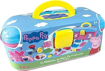 Lansay - 20005 - Maletín de Pasta para modelar de Peppa Pig y Sus Amigos