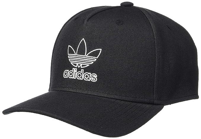 f8d6833721 Amazon.com: adidas Men's Originals Dart Precurve Snapback Cap, Black/White,  One Size: Clothing