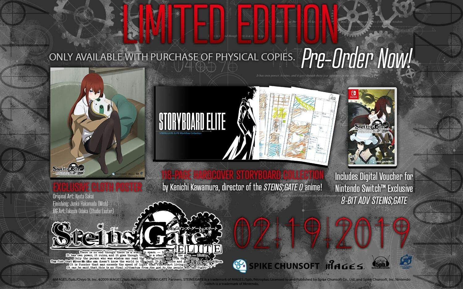 steins gate elite limited edition poster