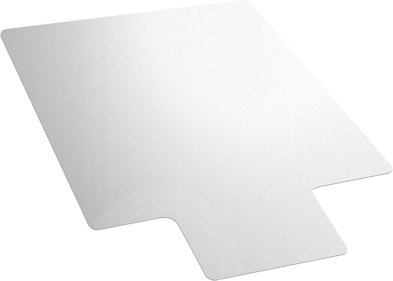 "AmazonBasics Vinyl Chair Mat Protector for Hard Floors with Lip 47"" x 35"""