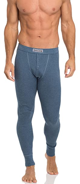 Timone Calzoncillos Térmicos Largos 100% Algodón Ropa Interior Hombre 15295 (Jeans, XXL)