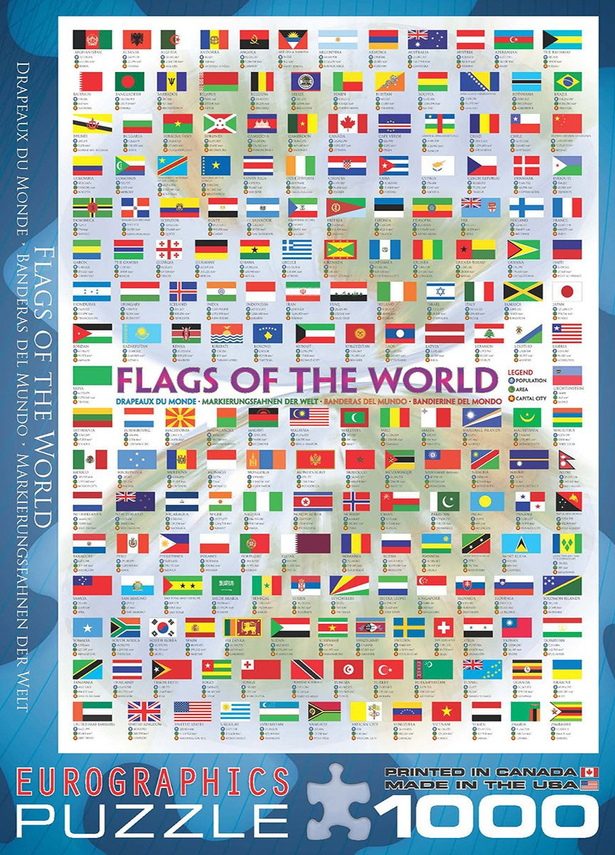 Eurographics flags of the world puzzle 1000 pieces amazon eurographics flags of the world puzzle 1000 pieces amazon toys games gamestrikefo Images