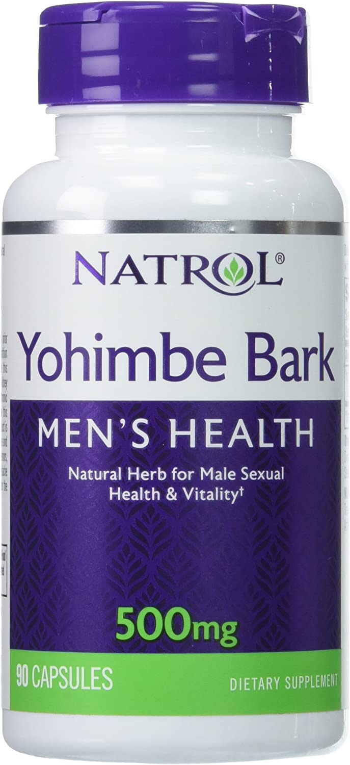 Natrol Yohimbe Bark 500mg Capsules, 90 Count: Health & Personal Care