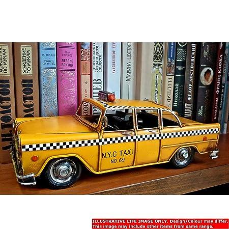 Vintage Retro Ciudad de Nueva York Taxi Amarillo Taxi lata modelo