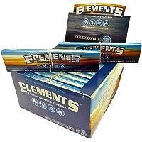 Elements Connoisseur, cartine in carta di riso, king size, slim, ultra sottili, con filtrini; 24 confezioni, by Trendz