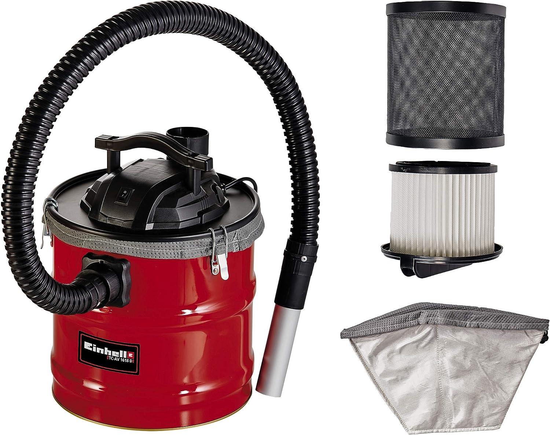Einhell Aspirador de cenizas TC-AV 1618 D (1200 W, recogedor de 18 l con cierres de apertura rápida, filtro pliegues y prefiltro, función de soplado): Amazon.es: Bricolaje y herramientas