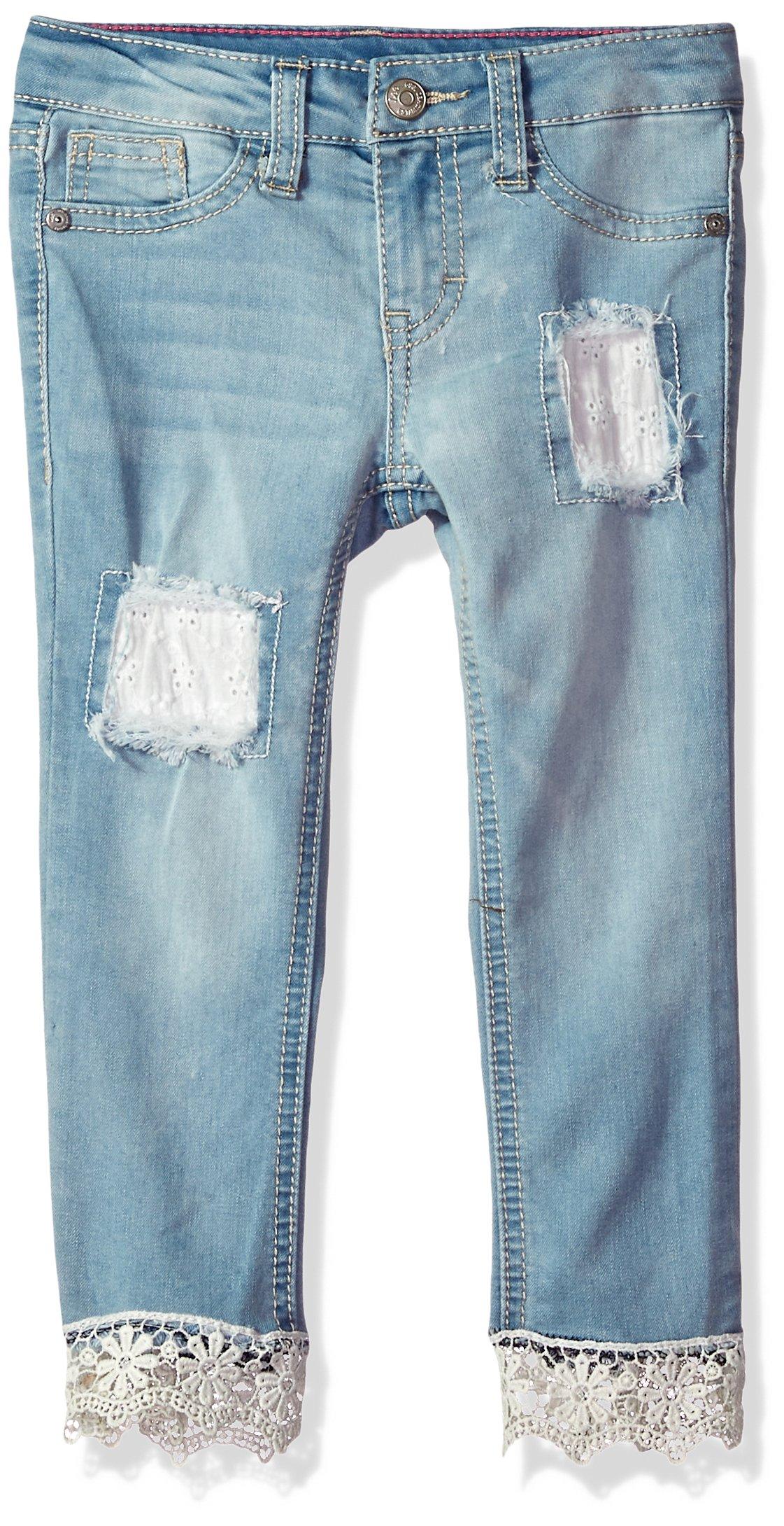LEE Girls' Little Fashion Skinny Crop Jean, Sky