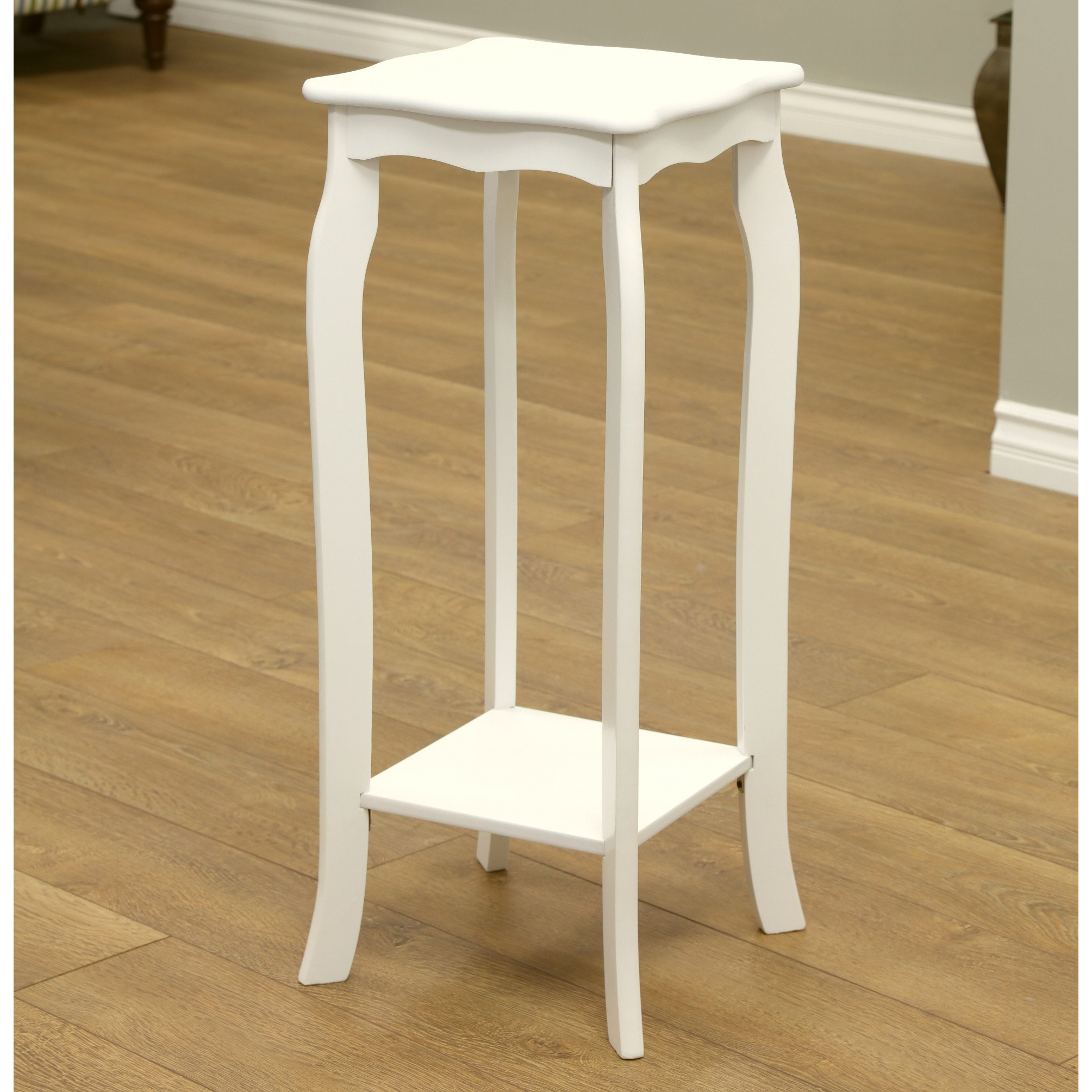 30'' Transitional Eco Friendly Entryway Telephone/Plant Stand in White